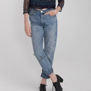 High Waisted Washed Denim ASOS Jeans